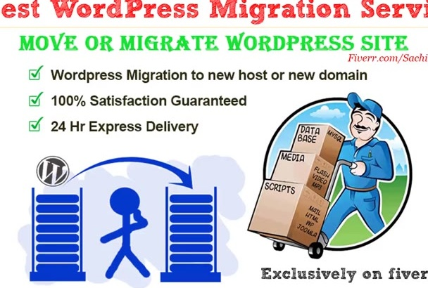 move wordpress site  in 10hours