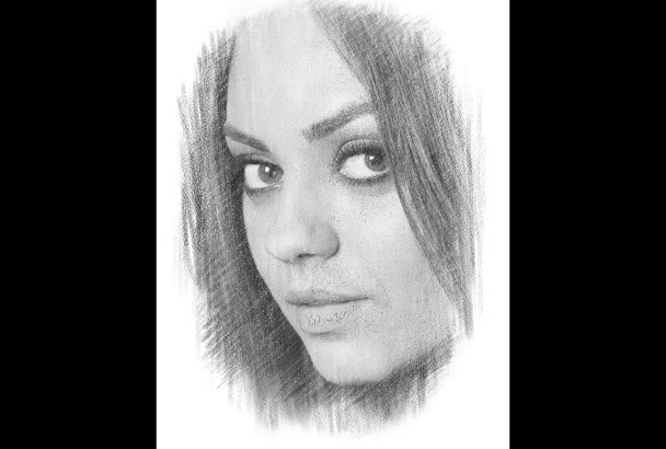convert your image into nice pencil sketch same day service