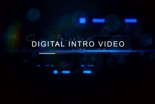 edit this digital title intro video