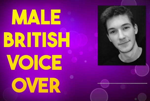 record a male british voice over Deep, Soothing or even Comedy