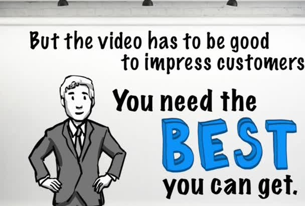 create a PROFESSIONAL whiteboard explainer video