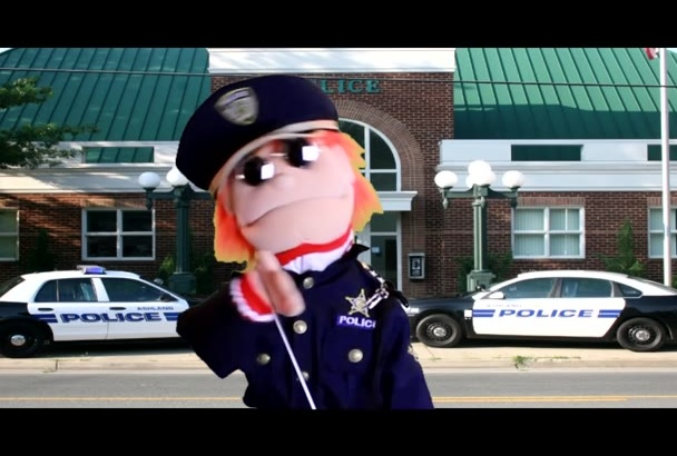 say your Officer Puppet message