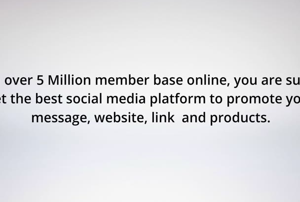 advertise Your Website or Link to 675,000 Real Active Facebook Members