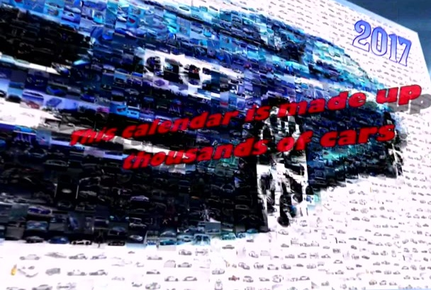 make a calendar from a thousand cars