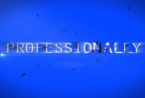make 3 AMAZING intro logo animation