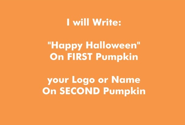 make Halloween Personalized Pumpkins