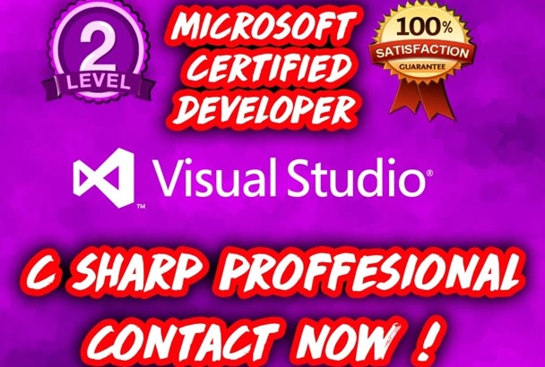 develop C SHARP projects assignments in Visual studio