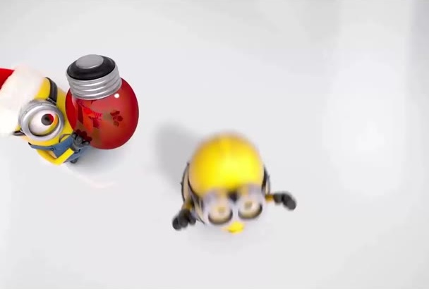 create this Minions celebrating Christmas and New Year video