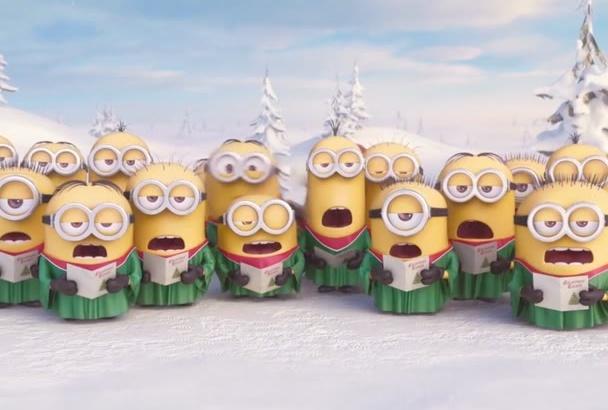 create a Minions Christmas Video Logo Intro