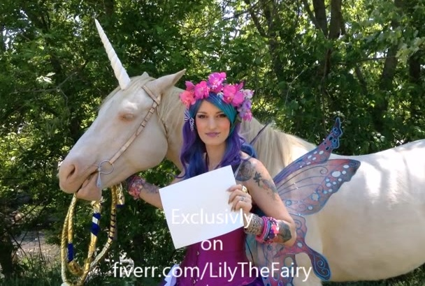 hold your sign Unicorn Fairy