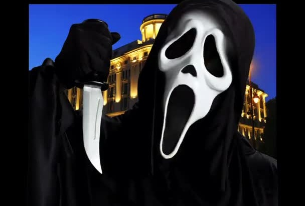 do a Scream Ghostface Voice Over and Video