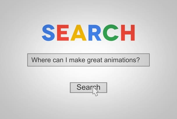 make Google search promotional intro video