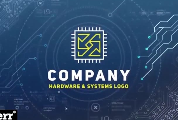 create ultimate hi tech logo generator in hd