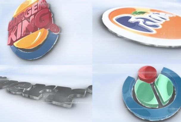 glossy 3D Corporate Logo