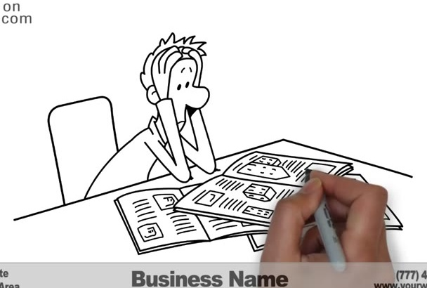 create a Real Estate Renting Property WHITEBOARD Video
