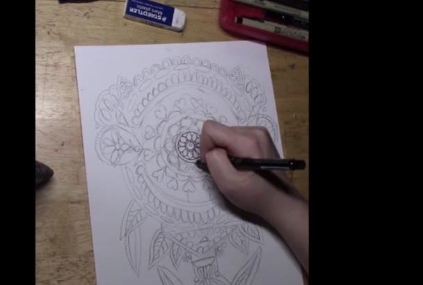 draw you 2 Mandalas for coloring books