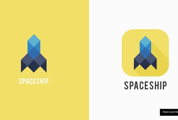 design awesome FLAT icon for logo or mobile app