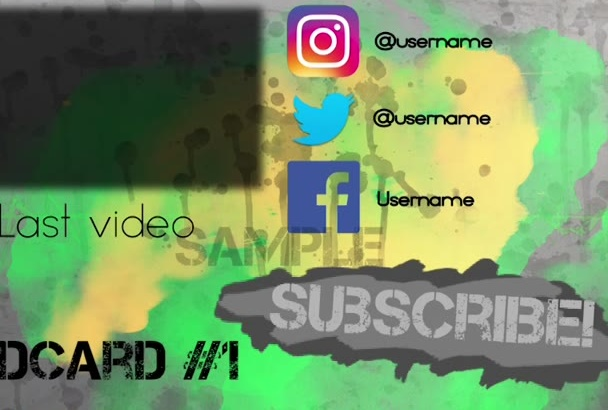 create an energetic YouTube encard or outro for you