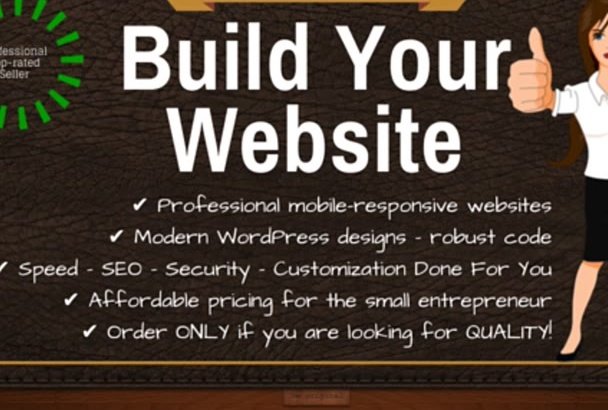 create and build a GREAT website, install a WordPress theme and plugins