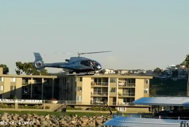 put logo on VIP helicopter landing on a cool yacht