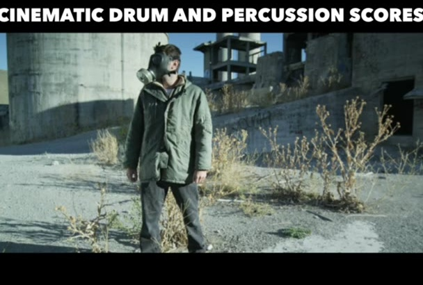 compose a cinematic drum and percussion track for you