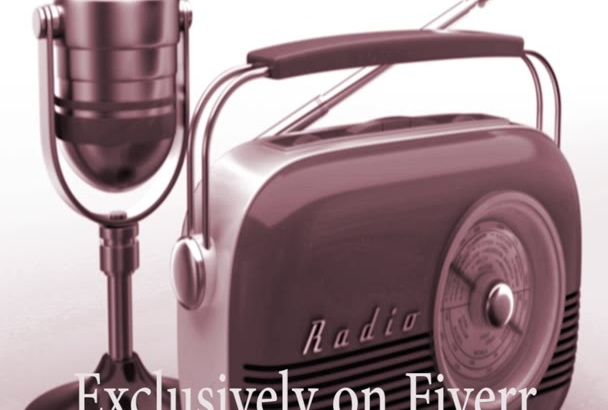 record your British male voiceover as a 1950s radio announcer