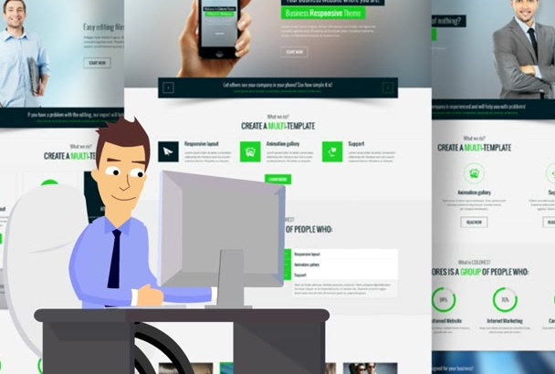 convert PSD to Html5,Css3,Js any design