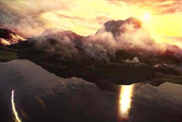 create This Mountains Logo Reveal
