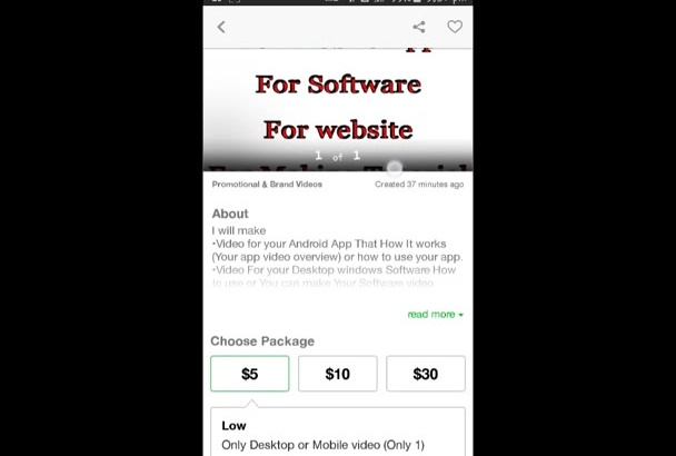 make screen recording video of your app website or software