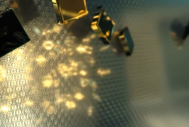 design for your video intro black gold