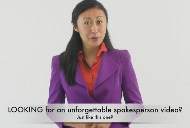 produce a high quality spokesperson video