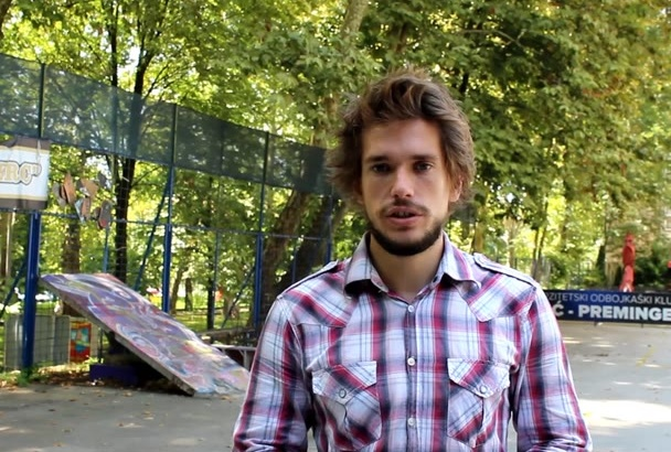 make video Testimonial in a Skatepark