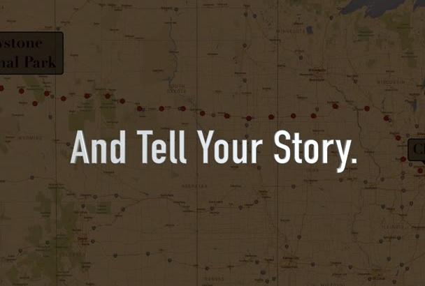 create an indiana jones style animated travel MAP