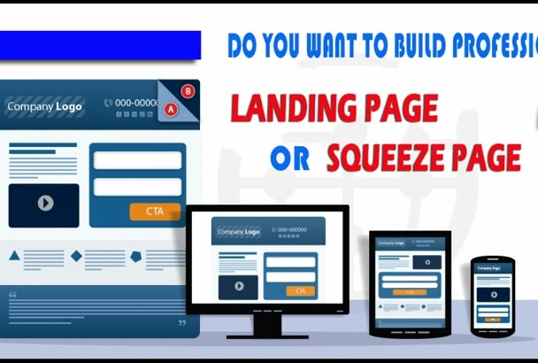 design a highly converted professional  landing page or Squeeze page