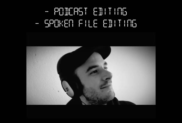 edit your AUDIO recording or podcast