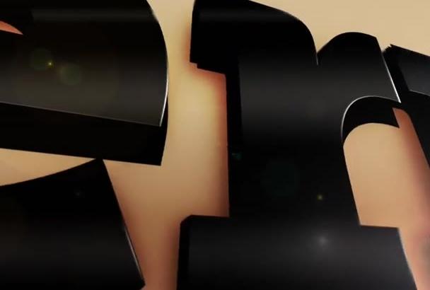 create 3d intro logo animation