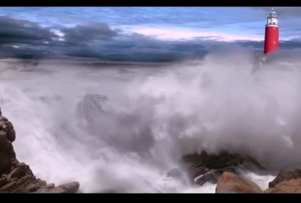 create sea waves animation intro