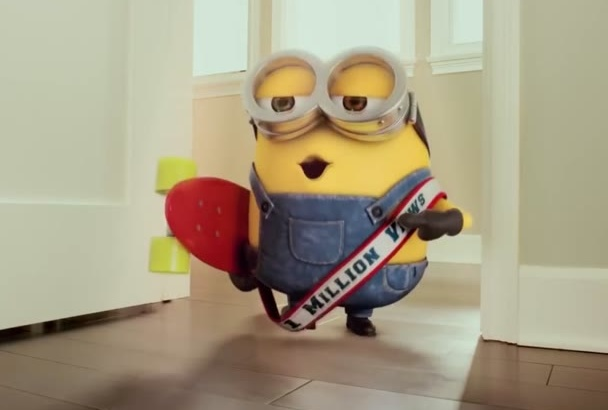 make a video of Minions are watching, Laughing at your logo