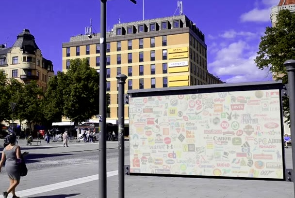 feature Your Business Video Advertisement on Busy City Billboard