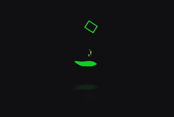 do a stylish cool 2d intro for your LOGO
