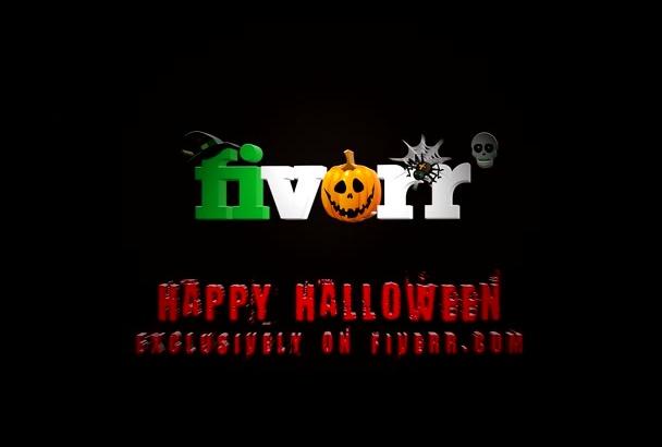 create TOP Halloween logo intro video