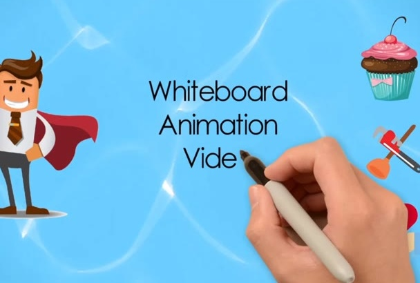create a killer whiteboard animation with video background