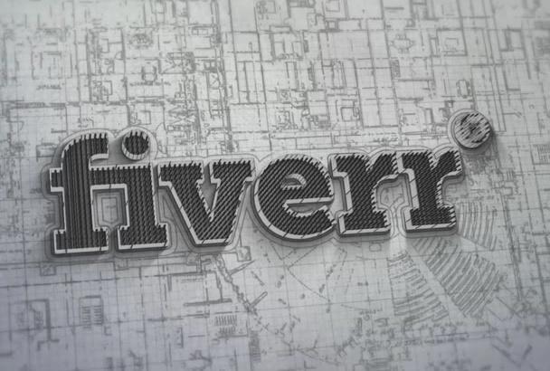 make 3D architectural logo intro
