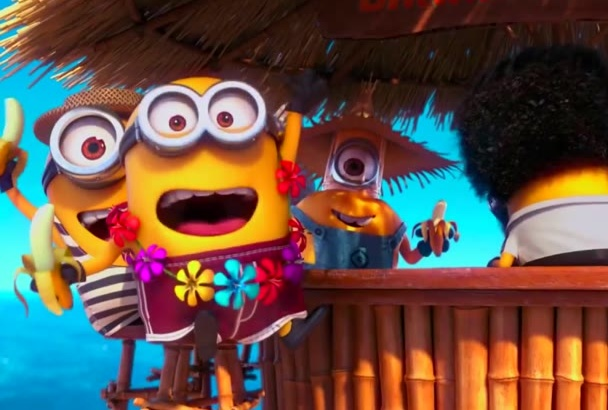 make Party minions FUNNY vocation video to promote your logo