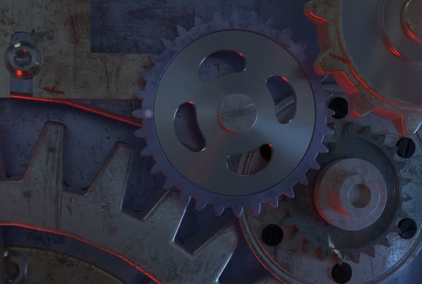 create 3D Gears Logo