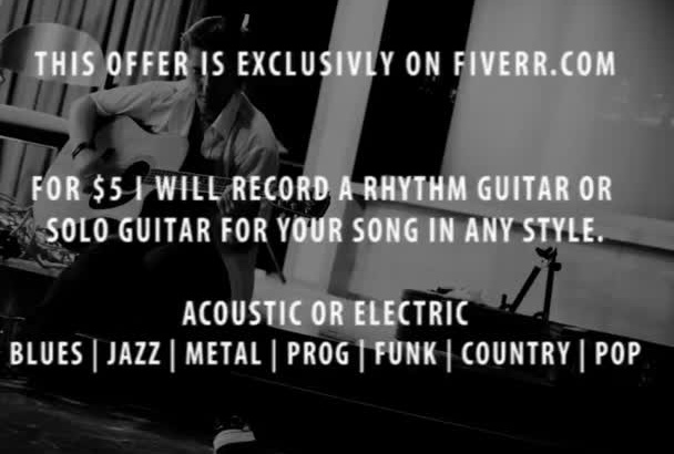record a studio quality guitar track for your song in any style