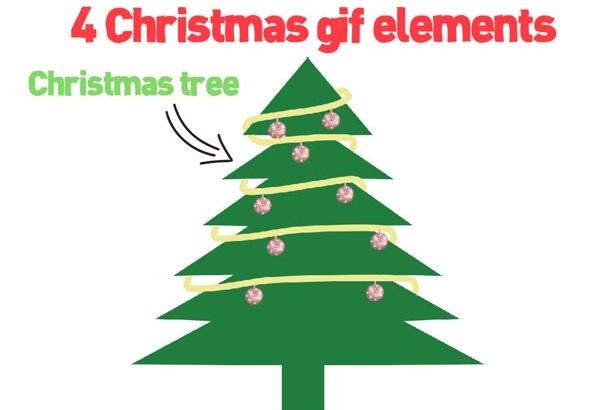 send you 4 Christmas animation gif files