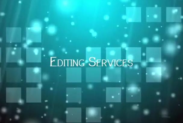 do editing in videos professionally