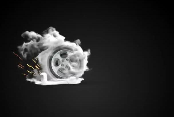 create a Amazing Car Wheel DRIFT Logo Reveal Video
