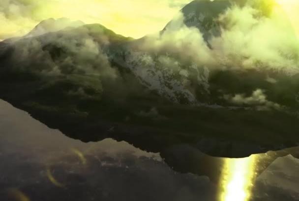 create CINEMATIC Mountain logo intro video animation